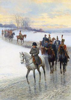 Napoleon leading his Army by Jan Van Chelminski