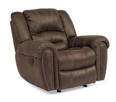 Your man deserves a throne to relax in while watching the big game. Spoil him with the Flexsteel Latitudes Downtown Glider Recliner before SuperBowl!