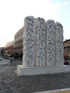 Janus in the heart of Rome by Pietro Consagra . Janus, Pisa, Rome, World, Heart, Building, Travel, Voyage, Trips