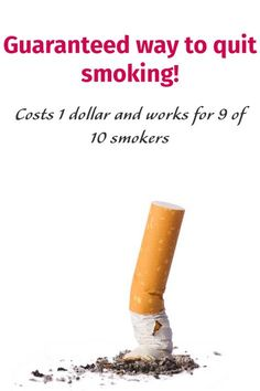 If you want to quit smoking but you need to replace smoking with something healthy and cheap, here is the key. Worked for 9 of 10 smokers. Check it out: