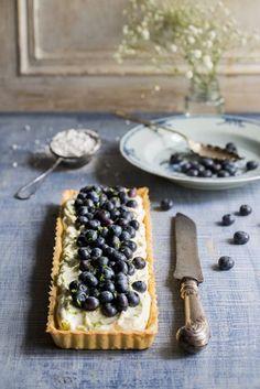 Blueberry & Lime Mascarpone Cream Tart Recipe for   Dessert   Cygnet Kitchen