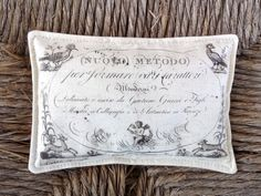 FREE SHIPPING Beautiful Lavender Sachet Featuring Antique French Graphics (5) by sewmanyroses on Etsy
