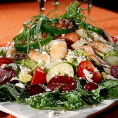 colorful pictures of healthy salads | ... famous greek salad dawn s world famous greek salad mixes vibrant ripe