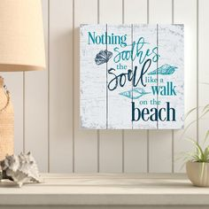 Nothing Soothes the Soul Like a Walk on the Beach. Beach Signs on Wood and Canvas. Best Beach Quotes Signs and Sayings for those who Love the Beach. Beach Cottage Style, Beach Cottage Decor, Coastal Decor, Coastal Style, Cottage Ideas, Coastal Living, Coastal Bathroom Decor, Cottage Rugs, Coastal Cottage