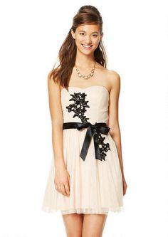 Strapless Floral Applique Dress - View All Dresses - Dresses - dELiA*s
