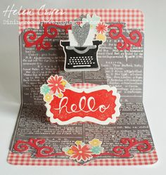 The Dining Room Drawers: Using the 'Undefined' Stampin' Up Stamp Carving Kit, and a Lucy Label Pop Up card