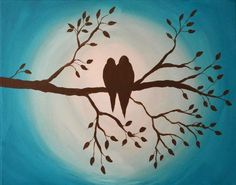 painting with a twist bird silhouette - Google Search