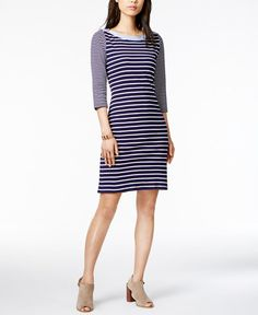 38.99$  Buy now - http://vieut.justgood.pw/vig/item.php?t=inplv6r31285 - Cotton Striped Sheath Dress, Only at Macy's