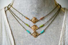 Boheemse choker ketting/art deco ketting/vintage stijl ketting /boho sieraden. Tiedupmemories