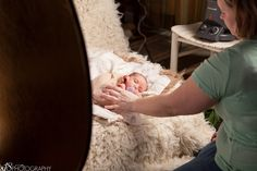 Behind the Scenes Pull Back!   Newborn Photography Session
