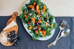 Roasted Grape and Butternut Squash Salad with Kale and Parmesan recipe on Food52