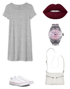 """Untitled #7"" by miwa-fukuta on Polyvore featuring Gap, Converse, Rolex and Bueno"