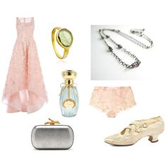 """Downton Abbey Meets Pretty in Pink"" by beth hemmila on Polyvore; inspired by Edwardian fashion, tourmaline gemstones, and the prom movie Pretty in Pink."