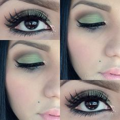 ♥♥ need this in my life!!! Green matte eye and baby pink lips!
