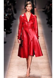 valentino spring 2013 runway.  red + leather= yes.  omg.  yes!