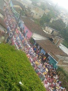 Recorrido tradicional en honor a la Virgen de Candelaria 2015 los dias 1, 2 y 3 de febrero San Fernando, chiapas   Traditional route in honor of the Virgin of Candelaria 2015 days 1, 2 and 3 February San Fernando, chiapas