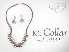 Aprenda y Venda con Variedades Carol: Kit 19149 kit collar y aretes CJ ramillete p - YouTube