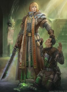 """the-emperor-protects: """" """"You fool. You dare dabble with foul and heretical Xeno's tech such as this? And for what? Your own material gain? Pray the Emperor have mercy on you filth, for I shall not.""""- Unknown Inquisitor before executing a smuggler..."""
