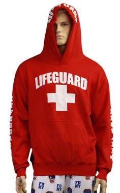 e78c5cf38d8a Mens Sweatshirt special price Lifeguard Hoodie Life Guard Sweatshirt Red  Lifeguard Hoodie