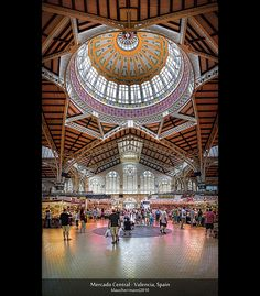 Mercado Central - Valencia, Spain (HDR Vertorama) by farbspiel, via Flickr