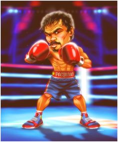 Manny Pacquiao by EddieHolly on DeviantArt Manny Pacquiao, Ufc Boxing, Floyd Mayweather, Mike Tyson, Character Drawing, Funny Faces, Illustration Art, Illustrations, Concept Art