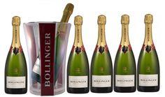Bollinger Doosje Brut Special Cuvee met champagnekoeler (de koeler krijg je tijdelijk gratis bij een doosje champagne Bollinger Brut Special Cuvee) Bollinger Champagne, Bubbles, Drinks, Bottle, Drinking, Beverages, Flask, Drink, Jars
