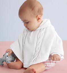 Saç örgülü bebek pançosu