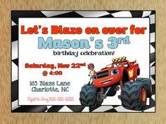 Blaze and the Monster Machine Birthday Invitation