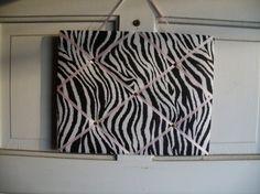 Zebra Print French Memo Board  Home Decor  by CraftingMemoriesOhio