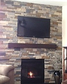 My Diy Airstone Fireplace In Autumn Mountain And Spring