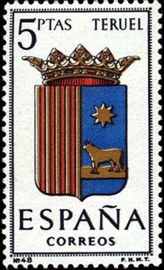 Provincial Arms - Teruel Going Postal, Stamp Collecting, Postage Stamps, Ephemera, Countries, Spain, Collections, My Favorite Things, Gallery