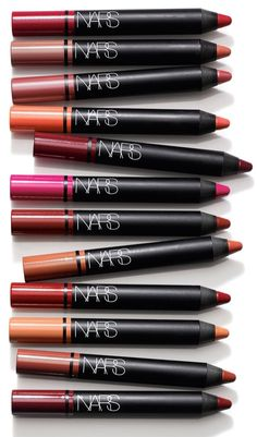 Currently collecting these NARS satin lip pencils. The rich, satin finish makes the pout look extra luscious!