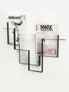 GUIDELINES magazine holder dark grey   - Frederik Roijé
