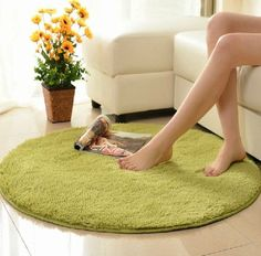 Nicedeco Comfortable Rug Approx. 60*120cm Round Feather Height 2.5CM Feather Height 2.5CM Wholesales Price Color Grass Green Flexible/Soft/Smooth Carpet/Mat/Rug Suitable For Stairway/Toilet/Study/Floor/Bedroom/Living Room/Bathroom/Kitchen/Home Decoration/Area NiceDeco,http://www.amazon.com/dp/B00JZO1J3O/ref=cm_sw_r_pi_dp_IYkAtb1ED9ZX5YRX