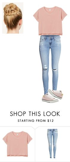 """""""Saturday """" by ashleybobrowski ❤ liked on Polyvore featuring Monki, H&M and Converse"""