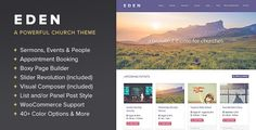 Download Free              Eden - A WordPress Theme for Churches            #               appointments #church #churches #drag and drop #events #mosque #non profit #religion #sermons #slider revolution #video slider #visual composer