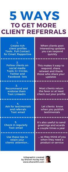 5 Ways to Get More Client Referrals #RADManagement #small business #staugustine