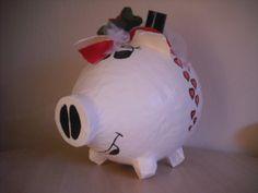 Ich biete Euch hier ein sehr grosses Sparschwein/Geldgeschenk für eure grüne Hochzeit oder auch als Hochzeitsgeschenk an.  Das Sparschwein/Geldgeschen
