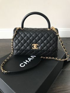 NWT CHANEL CoCo Handle 2017 Small KELLY BLACK Caviar GOLD Detachable Chain  Bag  4299.99 fc83d07533