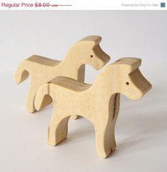 Zebra Horse Waldorf Wood Toy Miniatures by OohLookItsARabbit, $6.80