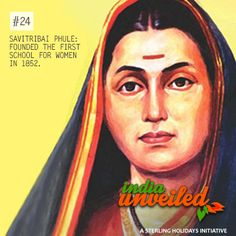 Savitribai Phule was the first female teacher of the first women's school in India and is also considered as the pioneer of modern Marathi poetry. In 1852 she opened a school for Dalit girls in Pune and went on to open 17 more schools for girls. Like & Share this proud #IndiaUnveiled story.