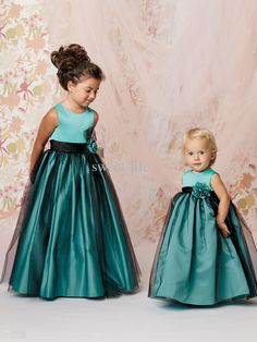 Wholesale Flower Girls' Dresses - Buy New Style Cute Green Cheap Flower Girls' Dresses Pageant Gowns Formal Dresses A-Line Satin Tulle Junior Bridesmaid Dresses Custom Made 2014, $45.62 |  DHgate. COVER TOP WITH LACE