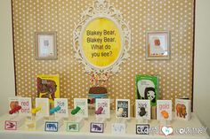 Brown Bear Birthday Party: Display Table