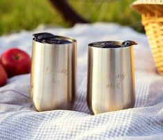 Wine Tumbler - Set of 2 Kenley Stemless Stainless Steel Wine Glasses with Lid - 16 Oz Outdoor Shatterproof Camping Tumbler Glass Metal Cups to Go - Double Wall Vacuum Insulated, Unbreakable, Dishwasher Safe Coffee Tumbler, Tumbler Cups, Wine Tumblers, Mugs Set, Flask, Travel Mug, Barware, Dishwasher, Gifts For Her