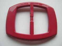 8 Stück Rote Gürtelschnallen ohne DornLänge ca.70 mmBreite