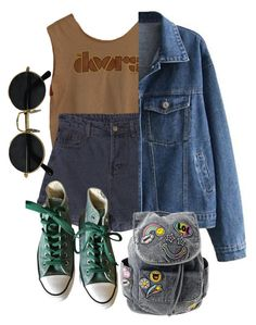"""Untitled #77"" by hippiessunflower on Polyvore featuring Converse"