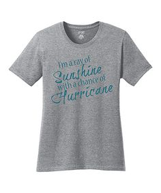 Look at this TKO tees Heather Gray 'Chance Of Hurricane' Tee on #zulily today!