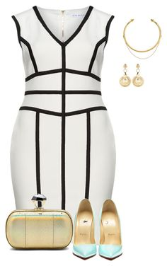 curvy classy by kristie-payne on Polyvore featuring Gina Bacconi, Diane Von Furstenberg, Versace and OBEY Clothing