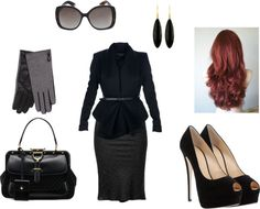 """Professional red head"" by leily-mejia on Polyvore"