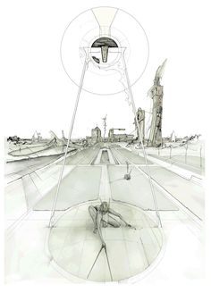 DAN SLAVINSK - A Series of Drawings from the End of Time BARTLETT, LONDON 2010